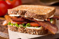 Bacon, Lettuce, and Tomato BLT Sandwich Stock Photography