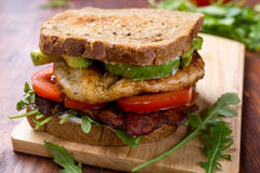 Bacon, Lettuce and Tomato BLT Sandwiches Royalty Free Stock Photography
