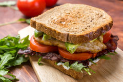 Bacon, Lettuce and Tomato BLT Sandwiches Royalty Free Stock Images