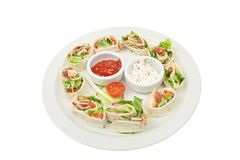 Bacon lettuce and tomato bread wraps Stock Image