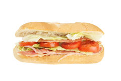 Bacon lettuce and tomato roll Royalty Free Stock Photography