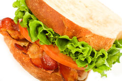 Bacon, Lettuce and Tomato Sandwich Royalty Free Stock Image