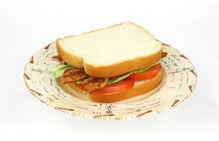 Bacon lettuce and tomato sandwich Stock Photo