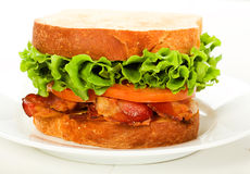 Bacon, Lettuce and Tomato Sandwich Stock Images