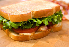 Bacon lettuce and tomato sandwich Stock Photography