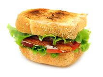 Bacon, Lettuce and Tomato Sandwich Stock Image