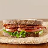 Bacon Lettuce and Tomato Sandwich stock photo