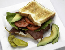 Bacon Lettuce and Tomato Sandwich Royalty Free Stock Photography