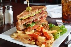 Bacon lettuce and tomato sandwich Stock Image