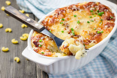 Bacon lovers' mac and cheese Royalty Free Stock Images