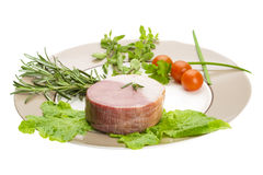 Bacon met groenten Stock Foto