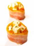 Bacon met kaas Stock Afbeelding