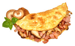 Bacon And Mushroom Omelette Royalty Free Stock Photography