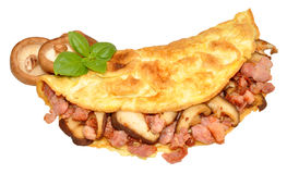 Bacon And Mushroom Omelette Stock Photos