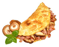 Bacon And Mushroom Omelette Stock Image
