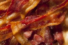 Bacon non sano organico croccante immagine stock