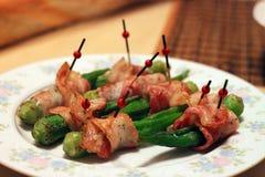 Bacon Okra Wrap. A delicious cuisine - Bacon Okra Wrap Royalty Free Stock Photos