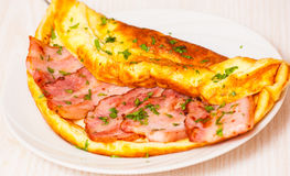 Bacon omelet Royalty Free Stock Image