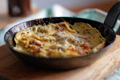 Bacon Omelette with Cheese Stock Photo