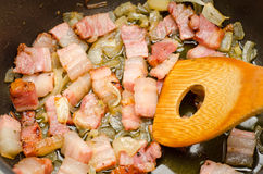 Bacon and onion Royalty Free Stock Photography