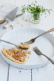 Bacon onion corn quiche Royalty Free Stock Photos