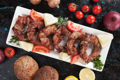 Bacon onion rings Stock Image