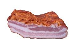 Bacon på vit Arkivbilder