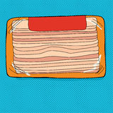 Bacon Package with Label Stock Photos