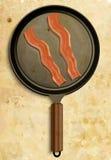 Bacon in pan Royalty Free Stock Photos
