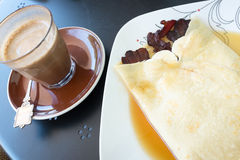 Bacon Pancake and Coffee Stock Image