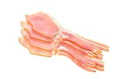 Bacon para trás Seco-curado cru fotografia de stock