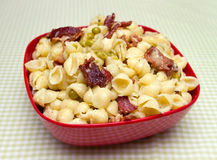 Bacon pea pasta Royalty Free Stock Images