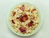 Free Bacon Pea Pasta Shells Stock Photos - 15463683