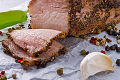 Bacon with pepper honey crust Royalty Free Stock Photos