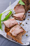 Bacon with pepper honey crust Stock Image