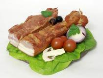 bacon pieces två Royaltyfria Foton