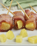 Bacon And Pineapple Appetizer Royalty Free Stock Images