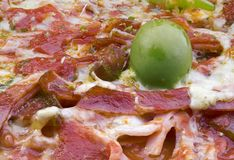 Bacon Pizza Detail Stock Photos