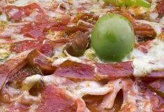 Bacon Pizza Detail stock photos