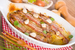 Bacon potato casserole Royalty Free Stock Images