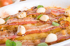 Bacon potato casserole Stock Image