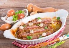 Bacon potato casserole Stock Images