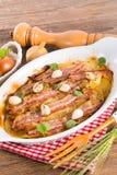 Bacon potato casserole Stock Photos