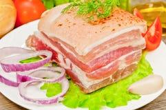 bacon rökta grönsaker Royaltyfria Bilder