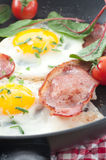 Bacon Rasher And Egg Stock Photography