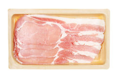 Bacon rashers in carton Stock Images