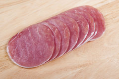 Bacon rashers. A selection of raw low fat bacon rashers Stock Images