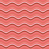 Bacon roasted seamless pattern. Thin piece of meat background. P Stock Photography