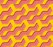 Bacon roasted seamless pattern. Thin piece of meat background. P Royalty Free Stock Photo