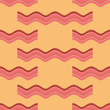 Bacon roasted seamless pattern. Thin piece of meat background. P Royalty Free Stock Photos